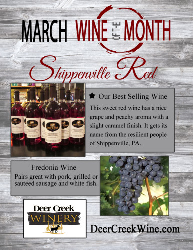 Deer Creek Winery March 2016 Wine of the Month