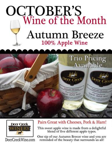Deer Creek Winery October 2016 Wine of the Month