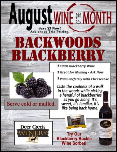 Deer Creek Wine of the Month August 2016