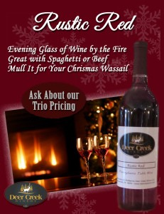 Deer Creek Wine of the Month for December is Rustic Red