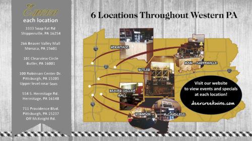 Deer Creel Wine Locations
