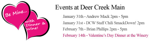 Deer Creek Winery Events for February