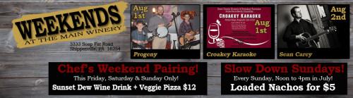 Deer Creek Winery Events Week 1