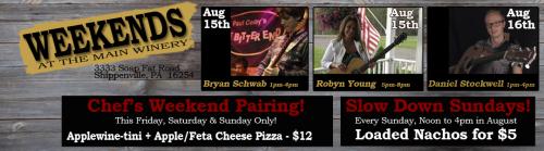Deer Creek Live Music Event Week 3 of August