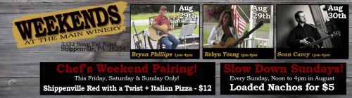 Deer Creek Winery Live Music August