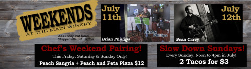 Deer Creek Winery Events for July Week 2