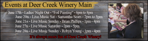 Deer Creek Winery June's Events