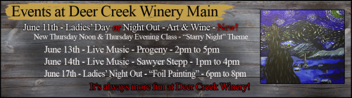 June Events at Deer Creek Winery