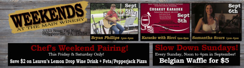 Deer Creek Winery September Live Music 1