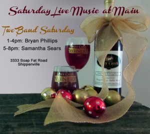 Deer Creek Winery Two Band Saturday Event Nov. 29th