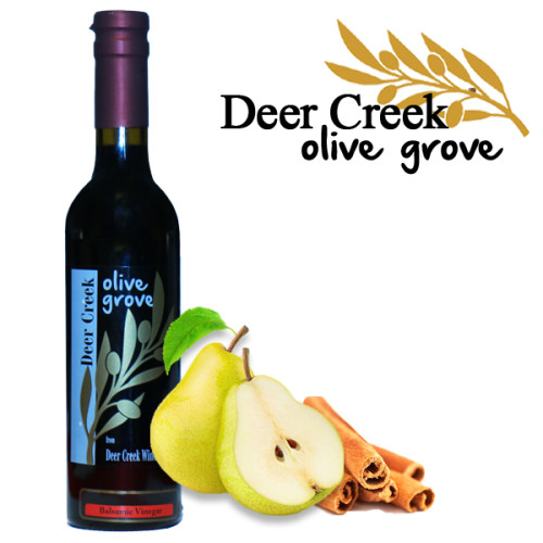 Cinnamon Pear Aged Balsamic Vinegar from Deer Creek Olive Grove