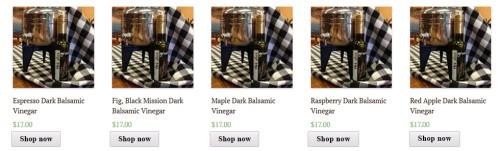 Deer Creek Olive Grove Dark Vinegars Page 1