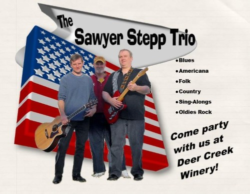 Sawyer Stepp Trio at Deer Creek Winery Live Music Saturday
