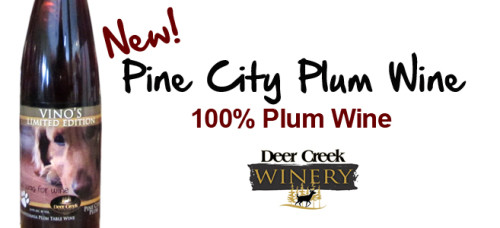Newly Released! Deer Creek Winery Pine City Plum!