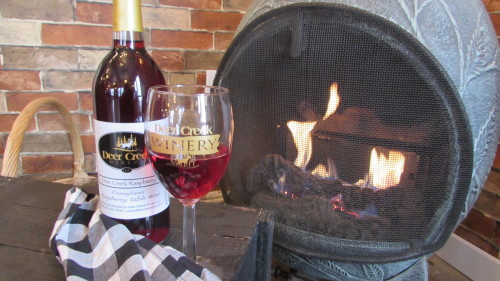 Warm inviting setting in Vino's Den!