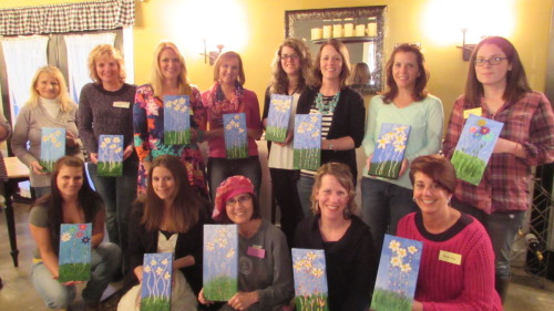 Art & Wine Painting at Deer Creek Winery.