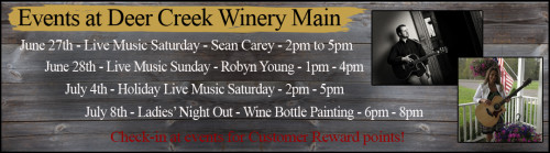 Deer Creek Winery June Events
