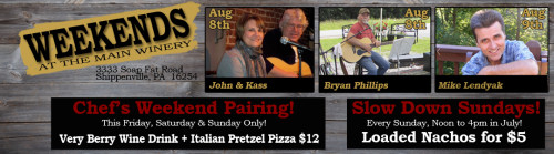 Live Music Weekends August 8th & 9th