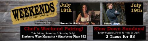 Deer Creek Winery July Events Week 3