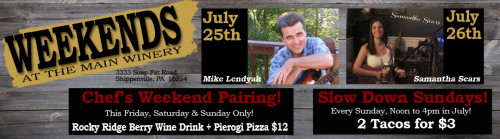 Deer Creek Winery Events for July 25th