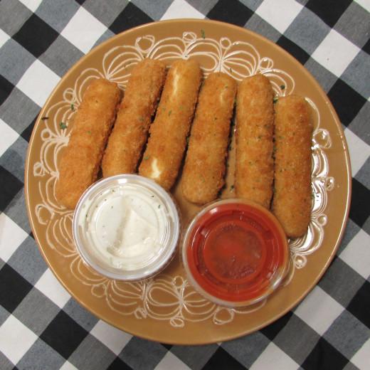 Toasted Mozzarella Sticks