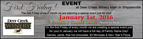 January First Friday at Deer Creek Winery