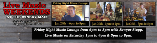 Live Music Weekends January 2016 Week 4