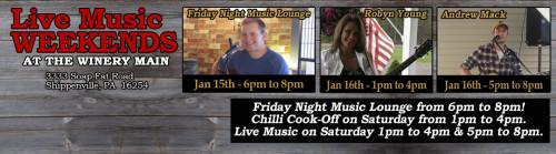 Deer Creek Winery Events January 2016 Week2