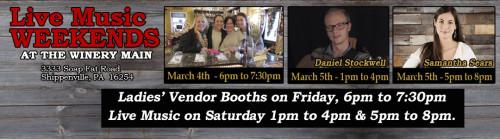 Deer Creek Winery Events March Week 1
