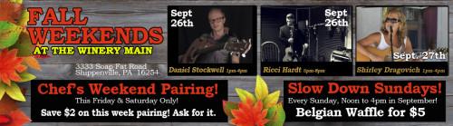 Deer Creek Winery Live Music for September Week #4