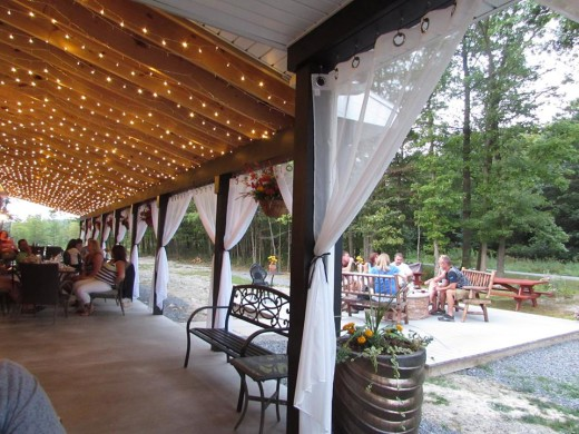 Deer Creek Winery Main Porch and Fire-Pit