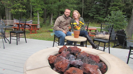 Couple by the Fire-Pit