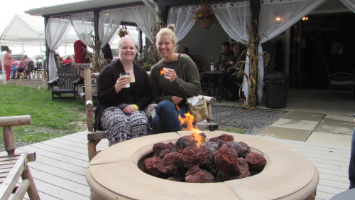 Fire Pit at Deer Creek Winery in the Fall