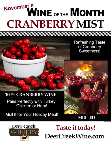 November Wine of the Month Cranberry Mist