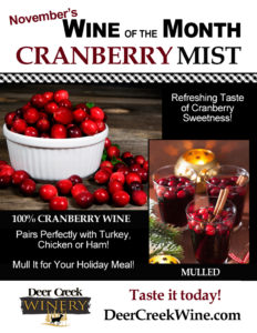 Cranberry Mist Wine of the Month for November