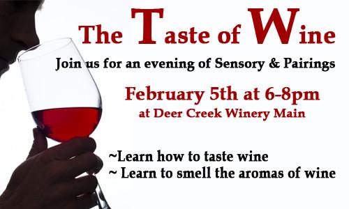 eer Creek Winery Taste of Wine Event