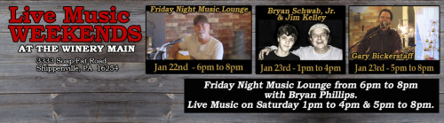 January 2016 Week 3 Music Events at Deer Creek Winery