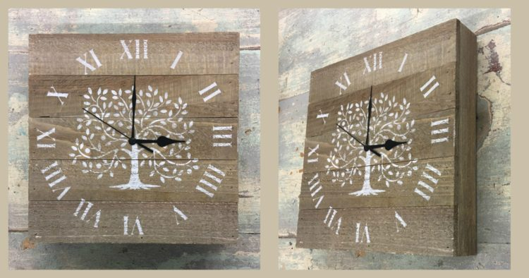 Pallet Painting Class: Tree of Life Clock