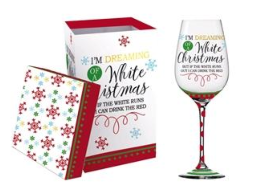 Christmas Wine Glass - Deer Creek Wine