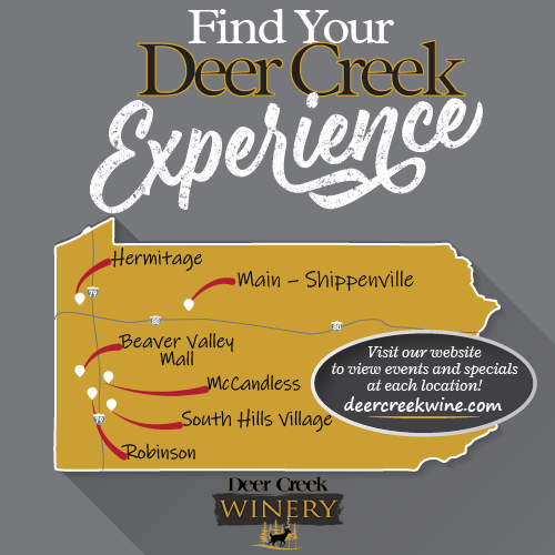 Deer Creek Winery Outlet Location Map